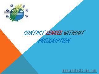 Search Contact Lenses without Prescription Online