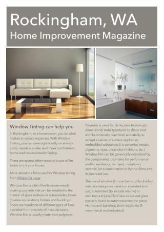 WA Home Improvement Magazine Issue #1