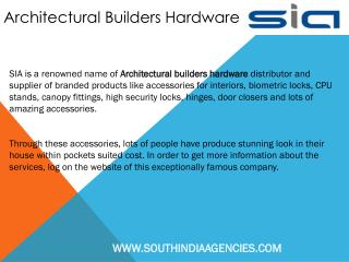 Architectural Builders Hardware