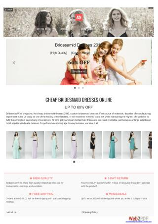 Cheap Bridesmaid Dresses Online UP TO 60% OFF