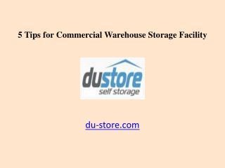 5 Tips for Commercial Warehouse Storage Facility in Dubai