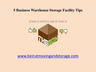 5 Business Warehouse Storage Facility Tips in Beirut