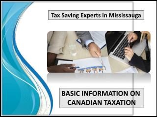 Basic Information on Canadian Taxation