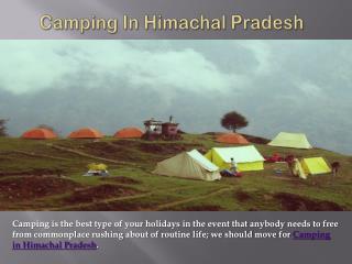 Camping in Himachal Pradesh