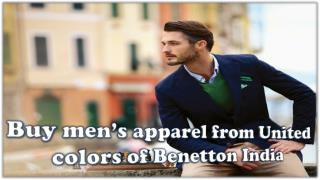 Buy men's apparel from United colors of Benetton India