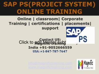 SAP PS ONLINE TRAINING IN USA|UK|CANADA