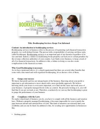 GLG Accounting | Effective Bookkeeping Service to Save Money