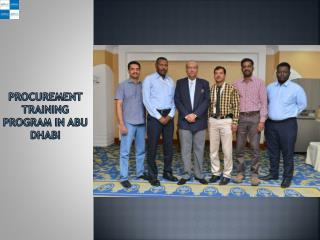 Procurement Training Program in Abu Dhabi