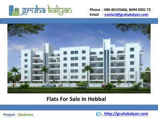 Flats for Sale In Hebbal Gladiolus