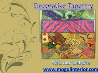 Decorative Tapestry www.mogulinterior.com