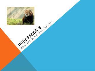 Rode pandas