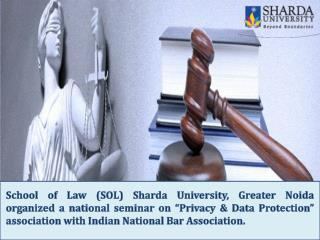 Sharda University, Greater Noida Organized A National Seminar