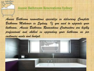 Aussie Bathroom Renovations  Sydney