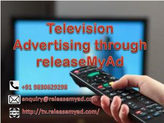 Television Advertising through releaseMyAd