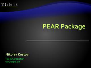 PEAR Package