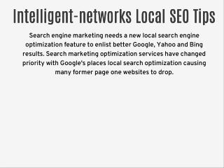 Intelligent-networks.com Local SEO Tips