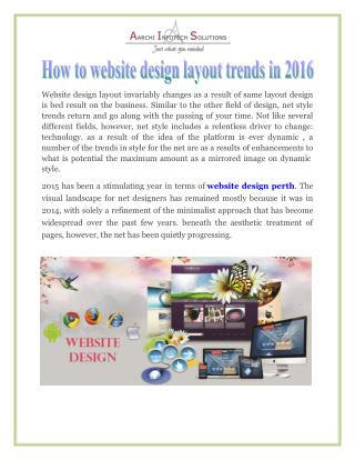 How to website design layout trends in 2016