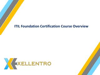 ITIL Foundation Certification Course Overview