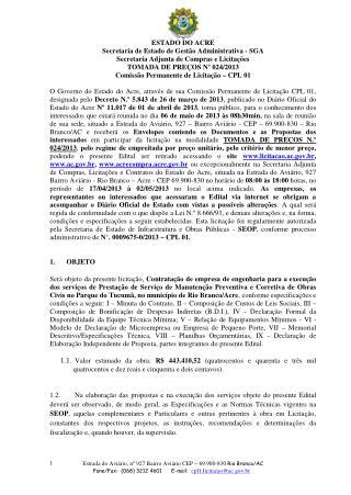 TOMADA DE PRECOS N 024 2013