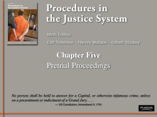 Chapter Five Pretrial Proceedings