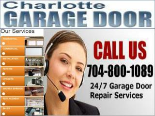 Charlotte NC Garage Door Repair - 24 Hour Emergency