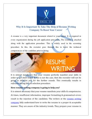 Resume Writing Company, Resume Writing Services