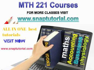MTH 221 Proactive Tutors/snaptutorial