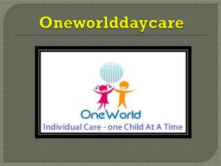 Day Care Facilities In School Infant Care