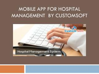 Mobile App for Hospital Management