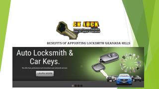 Benefits of Appointing Locksmith Granada Hills