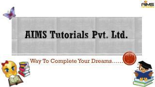 Aims Tutorials Pvt. Ltd. Overview