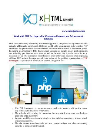 Work with PHP Developers For Customized Internet site Advancement Solutions