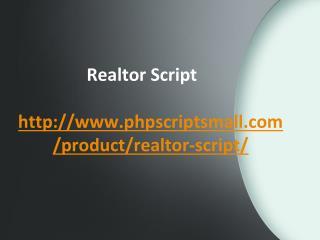 Realtor Script, PHP Realestate Script