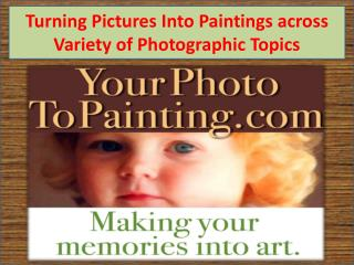 Turning Pictures Into Paintings across Variety of Photographic Topics