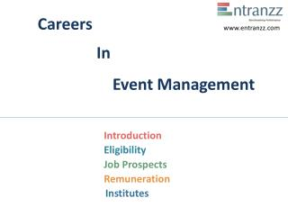 Careers In Event Management