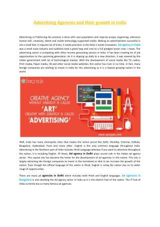 Advertising Agencies and their growth in India