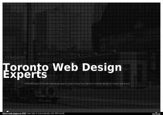 Web Design Toronto Experts Agency | Website design Toronto