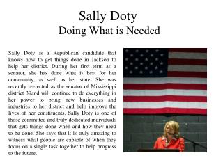 Sally Doty Doing What is Needed