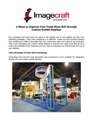 4 Ways to Improve Your Trade Show ROI through Custom Exhibit Displays