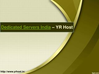 Reliable Web Hosting India - YR Host
