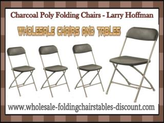 Charcoal Poly Folding Chairs - Larry Hoffman