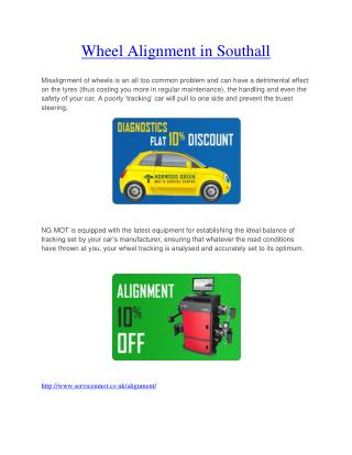 Wheel Alignment in Southall