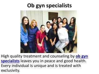 Ob gyn specialists, Pediatric gynecologist, Holistic gynecology nyc