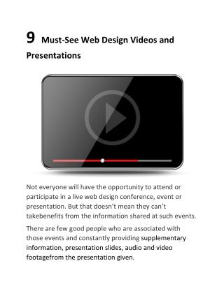 9  Must-See Web Design Videos and Presentations