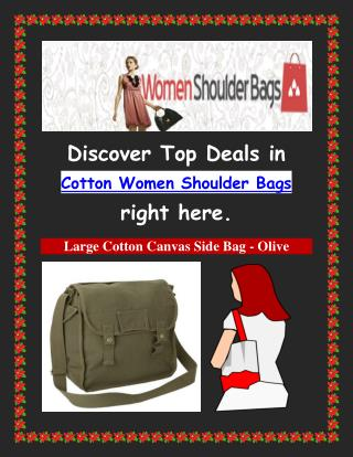 Cotton Women Shoulder Bags: A Perfect Choice for a Perfect Lady