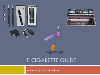 E cigarette Guide