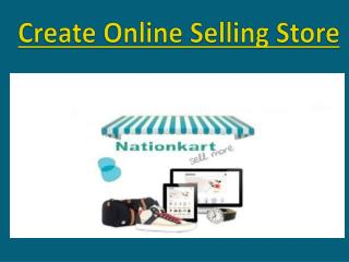 Create Online Selling Store