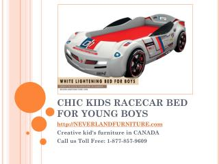 Chic Kids Racecar Bed for Young Boys in Canada
