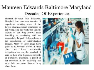 Maureen Edwards Baltimore Maryland Decades Of Experience