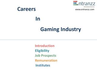 Careers In Gaming Industry